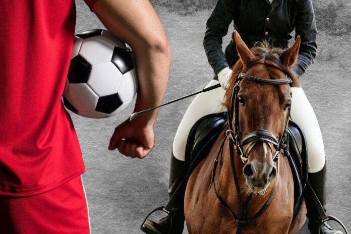 Fodboldspiller vs. rytter