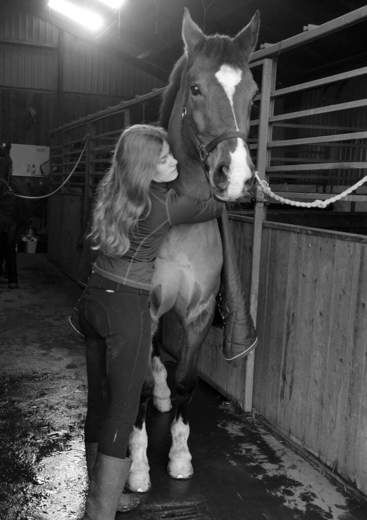 Hest på staldgang