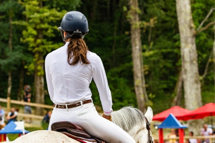 Rytter på sin hest.