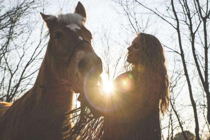 Hest og kvinde