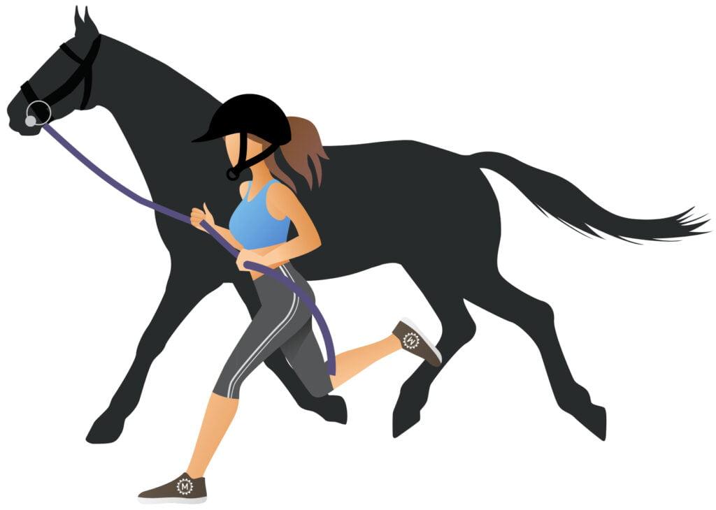 Rytter løber med hest