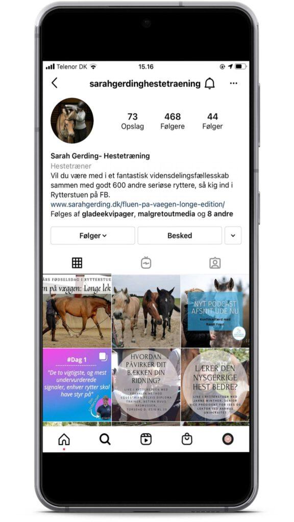 Sarah Gerding er en instagrammer med holistisk syn på heste