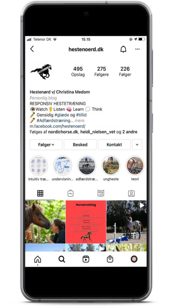 Hestenørd er en instagrammer med holistisk syn på heste